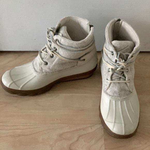 White Wool Duck Boots | Poshmark